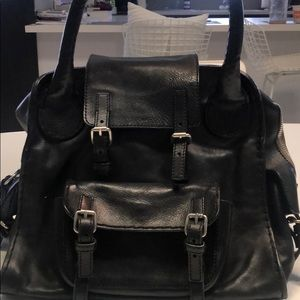 Black leather Chloe bag